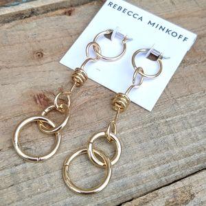 Rebecca Minkoff ring drop earrings NWT